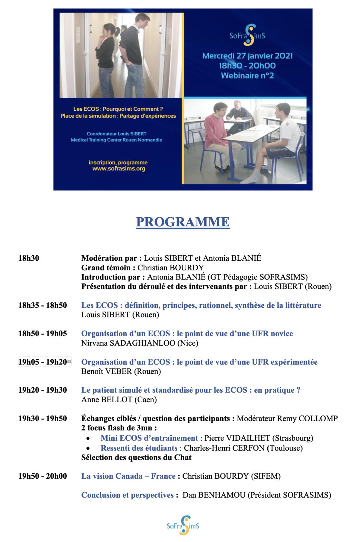 programme Webinaire ECOS SoFraSims